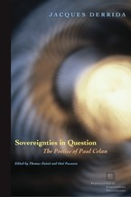 Cover image for Sovereignties in question: the poetics of Paul Celan