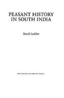 Cover for Peasant history in South India