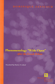 "Cover image for Phenomenology ""wide open"": after the French debate"