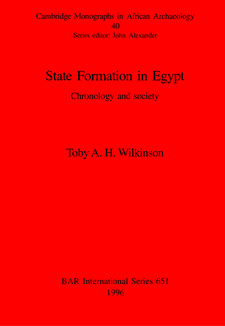 Cover image for State Formation in Egypt: Chronology and society