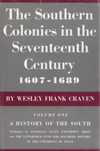 Cover image for The southern colonies in the seventeenth century, 1607-1689