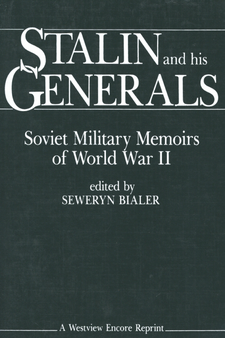 Cover image for Stalin and his generals: Soviet military memoirs of World War II