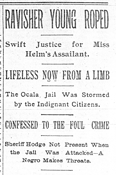 Headline, Florida Times-Union, May 16, 1894, p.1.
