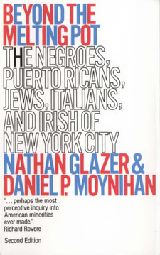 Cover image for Beyond the melting pot: the Negroes, Puerto Ricans, Jews, Italians, and Irish of New York City