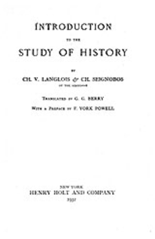 Cover image for Introduction to the study of history