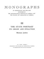 Cover image for The state portrait: its origin and evolution