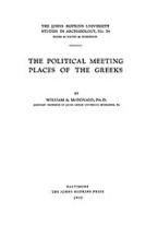 Cover image for The political meeting places of the Greeks
