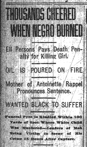 Headline, Memphis Commercial Appeal, May 23, 1917, p. 1.