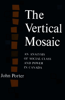 Cover image for The vertical mosaic: an analysis of social class and power in Canada