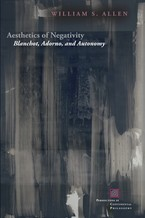Cover image for Aesthetics of negativity: Blanchot, Adorno, and autonomy