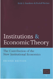 Cover image for Institutions and Economic Theory: The Contribution of the New Institutional Economics