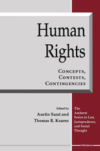 Cover image for Human Rights: Concepts, Contests, Contingencies