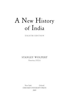 Cover image for A new history of India