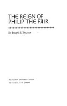 Cover image for The reign of Philip the Fair