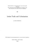 Cover image for Ionian trade and colonization