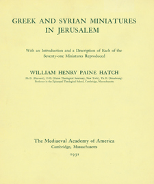 Cover image for Greek and Syrian miniatures in Jerusalem