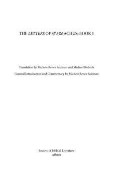 Cover image for The letters of Symmachus