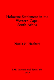 Cover image for Holocene Settlement in the Western Cape, South Africa