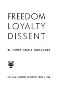 Cover image for Freedom, loyalty, dissent