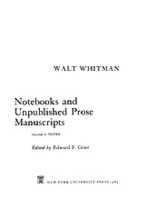 Cover image for Notebooks and unpublished prose manuscripts, Vol. 5