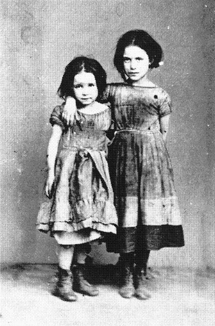 The two younger Holder girls (June 1874).