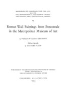 Cover image for Roman wall paintings from Boscoreale in the Metropolitan Museum of Art