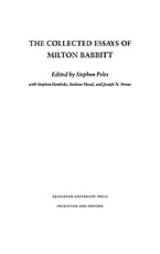 Cover image for The collected essays of Milton Babbitt