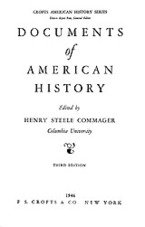 Cover image for Documents of American history, Vol. 3