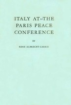 Cover image for Italy at the Paris Peace Conference