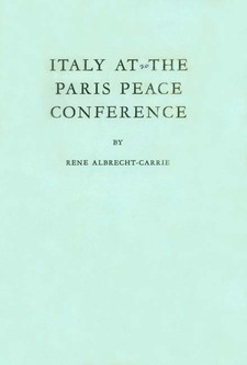 Cover for Italy at the Paris Peace Conference