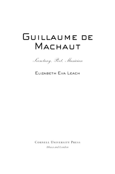 Cover image for Guillaume de Machaut: secretary, poet, musician