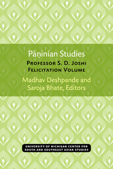 Cover image for Paninian Studies: Professor S. D. Joshi Felicitation Volume