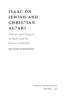 Cover image for Isaac on Jewish and Christian Altars: Plemic and Exegesis in Rashi and the Glossa Ordinaria