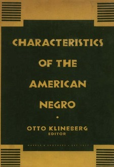 Cover image for Characteristics of the American Negro