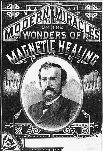 """Modern Miracles or the Wonders of Magnetic Healing,"" miscellaneous pamphlet cover, no author or date, Electricity, box 1, loose pamphlets, Warshaw Collection of Business Americana, Archives Center. Courtesy of the National Museum of American History, Smithsonian Institution."