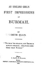 Cover image for An English girl's first impressions of Burmah