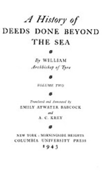 Cover image for A history of deeds done beyond the sea, Vol. 2