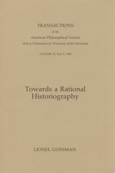 Cover image for Towards a rational historiography