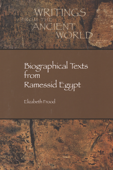 Cover image for Biographical texts from Ramessid Egypt