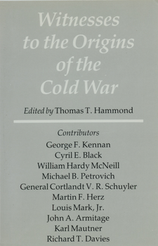 Cover image for Witnesses to the origins of the cold war