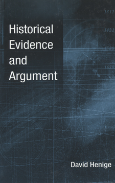 Cover image for Historical evidence and argument