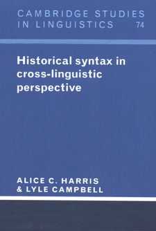 Cover image for Historical syntax in cross-linguistic perspective