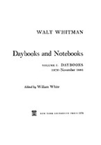 Cover image for Daybooks and notebooks, Vol. 1
