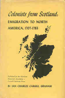 Cover image for Colonists from Scotland: emigration to North America, 1707-1783
