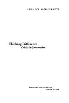 Cover image for Thinking difference: critics in conversation