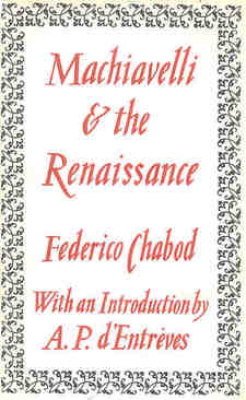 Cover for Machiavelli & the Renaissance