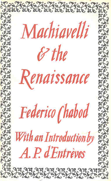 Cover image for Machiavelli & the Renaissance