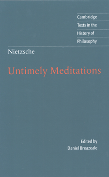Cover image for Untimely meditations