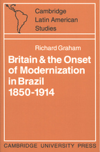 Cover image for Britain and the onset of modernization in Brazil 1850-1914