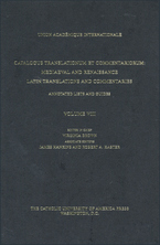 Cover image for Catalogus translationum et commentariorum: Mediaeval and Renaissance Latin translations and commentaries : annotated lists and guides., Vol. 8